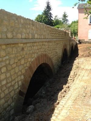 Pont de Forcé en cours de restauration