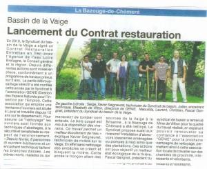 Lancement du contrat restauration